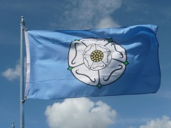 The-Yorkshire-Flag-showing-the-white-rose-of-Yorkshire.